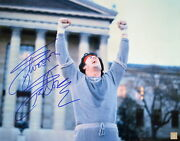 Sylvester Stallone Rocky Balboa Autographed 16x20 Photo Museum Steps Asi Proof
