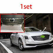 Fit For Cadillac Ct6 2016-2018 Chrome Front Upper Bumper Mesh Grill Grille 1pcs