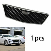 For Cadillac Ct6 2019-2020 Abs Black Front Bumper Gypsophila Mesh Grill Grille