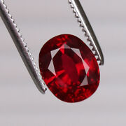 Natural Certified Red Ruby 5.80 Ct Pigeon Oval Cut Mozambique Loose Gemstone