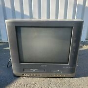Toshiba Retro Gaming 20andrdquo Tv Vcr Vhs Dvd Player Combo Mw20h63 Tested Free Shippin