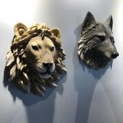 Animal Head Statues Interior Indoor Room Home Office Wall Art Decoration Pared