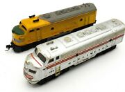 Bachmann 153 And Atlas 1476a N Scale Diesel Locomotive Train For Parts Or Fix Lot