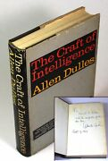 Allen Dulles / The Craft Of Intelligence Signed 1963