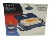 Pyrex Microcore Portables Carrier With 3 Qt Glass Dish And Cold Pack 233-s