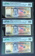 Solid 1andrsquos 4andrsquos 6andrsquos In Brand New Pmg Holders Philippines 500 Piso 3-note Set