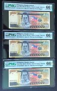 Solid 1's 4's 6's In Brand New Pmg Holders Philippines 500 Piso 3-note Set