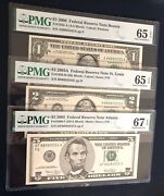 88885555 Set In Brand New Pmg Holder Double Quad Matching Fancy Serial 1/2/5