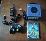 Nintendo Gamecube Blue Video Game System + Whirl Tour Tested