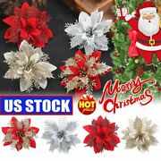 Artificial Christmas Glitter Flower Tree Hanging Xmas Party Tree Decorations Tf