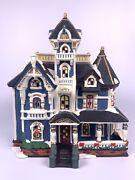 Heartland Valley Deluxe Village Porcelain Christmas Lighted Victorian House