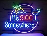 Ldgj Neon Signs It's 500 Some Where And Palm Led Neon Sign Art Wall Lights For Be