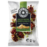 Red Rock Deli Grilled Yakitori Chicken And Shallot Potato Chips 150g Snacks Food