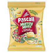 Pascall Murray Mint Candy 192g Bulk Flavoured Smooth Lollies Individual Wrap