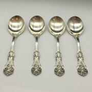 Set Of 4 Reed And Barton Francis I Sterling Silver Gumbo Soup Spoons S361