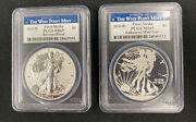 2013 Silver Eagle West Point 2-coin Set Pcgs First Strike Pr69 And Ms69