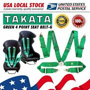 2 Seat Takata 4 Point Snap-on 3 Racing Seat Belt Harness Safe Universal Us New
