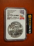2013 W American Silver Eagle Ngc Ms70 Fr Struck At West Point Mint Anna Cabral
