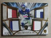 2014 Topps Supreme Odell Beckham Jr. Quad Patch Rookie /36 New York Giants Rc