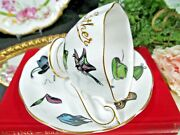 Queen Anne Tea Cup And Saucer Father Teacup Hats And Riding Saddle England 1940s
