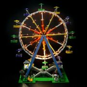 Custom Lego Compatible Creator Expert Ferris Wheel 10247 With Led Lights And Motor
