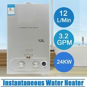 12l 24kw Propane Gas Lpg Portable Tankless Water Heater Outdoor Camping Shower