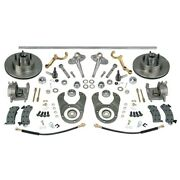 Plain Steering/brake Kit-spindles/dropped Arms-ford 46 Axle 5 On 4.75