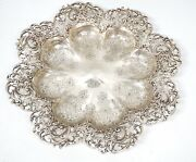 J.e. Caldwell And Co Sterling Silver Serving Platter Tray Philadelphia Reticulated