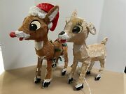 24 Pre-lit Rudolph The Red-nosed Reindeer And Clarice Christmas Outdoor Decor...