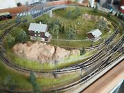 Highly Detailed Marklin Z-scale Track Layout With Electric Switches, Catenary