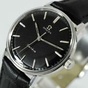 Original 1968and039 Omega Geneve Seamaster Manual Wind Stainless Steel Vintage Watch