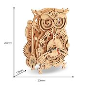 Wooden Owl Crafts Puzzles Adult Kids Children Model Building Games Kits Assembly