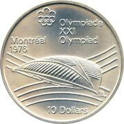 10 Canada 1976 Montreal Olympics Velodrome For Cycling Huge Silver