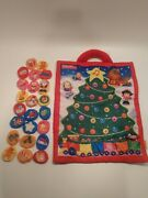 Fisher Price Little People Advent Calendar Fabric Soft Christmas Countdown Tree