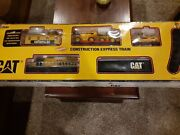 Cat Caterpillar Construction Express Toy Train Set Battery Powered Complete Iob