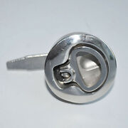 Marine Stainless Steel 2 Boat Hatch Lift Ring Handle Lock Latch Hardware