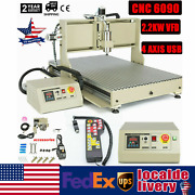 Usb 2200w Cnc 4axis 6090 Router 3d Engraver Mill Drill Carving Machine+handwheel