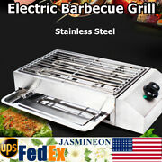 Bbq Oven Grill Indoor/outdoor Portable Electric Barbecue Grill Stainless Steel