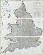 1786 Massive Triple Antique Wall Map England And Wales By John Andrews Lm13