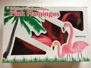 Blow Mold Pink Flamingos Yard Decorations The Original Don Featherstone Pair