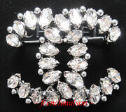 Authentic Cc Pin Brooch Silver Crystals Pearls 2017 Fall Sold-out Rare