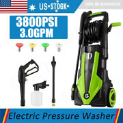 Hot`3800psi Pressure Washer 3.0gpm Portable Electric High Power Washer Machine