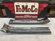 1955 1956 Ford Crown Victoria Interior Roof Trim 2 Pieces Re-chromed