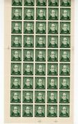 Chile 1946 Andres Bello 40 Cts Green Mnh Full Sheet Scarce Wmk. 2