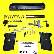 Jennings J 22 In 22lr Old Style Checkered Grips + Safety Gun Parts 21-378