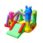 Inflatable Kids Alien Monster Jump And Slide Ball Pit Bounce House With Blower
