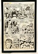 Fantastic Four Annual 6 Pg. 46 By Jack Kirby 11x17 Framed Original Art Poster M