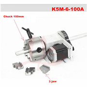 A Axis Rotary Axis Extend Axis With 100mm 4jaw Chuck For Wood Cnc Milling Machin