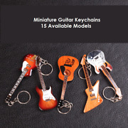 Wooden Miniature Guitar Keychain With 15 Different Models Available Double Neck