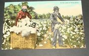 1911 Black Americana Postcard In The Land Of King Cotton Stamp Usa To Russia
